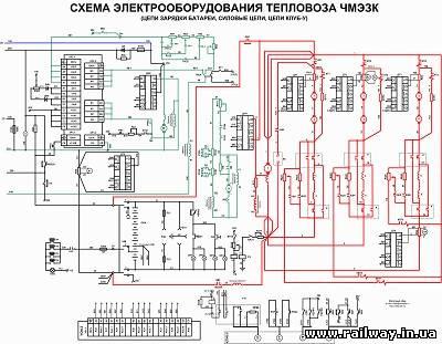 Электрическая схема тепловоза