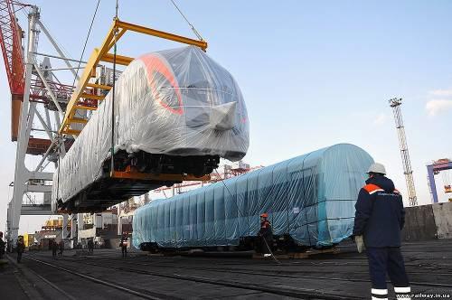 В Одессу прибыли первые поезда Hyundai