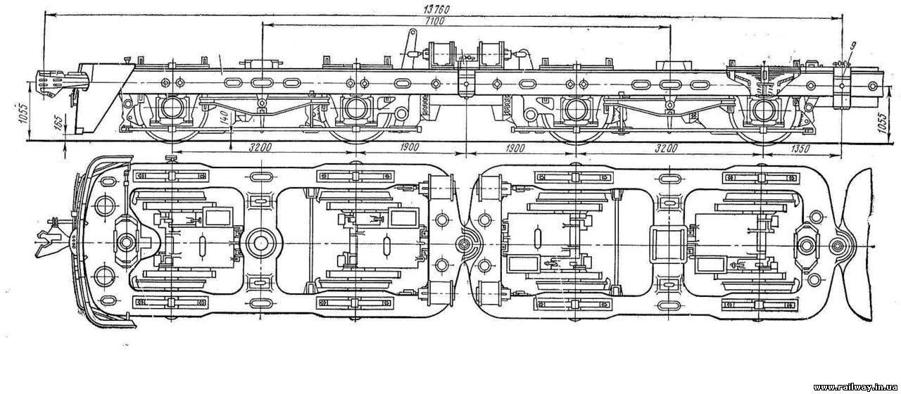 ВЛ8 - Чертежи электровозов