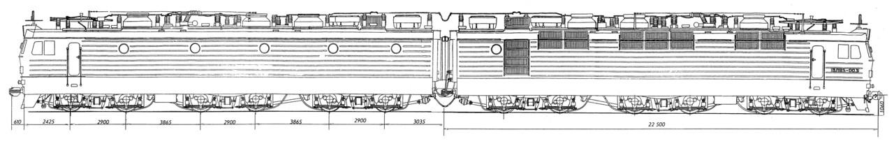 ВЛ85 - Чертежи электровозов